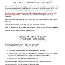 Ear Lobe Reconstruction Preparation